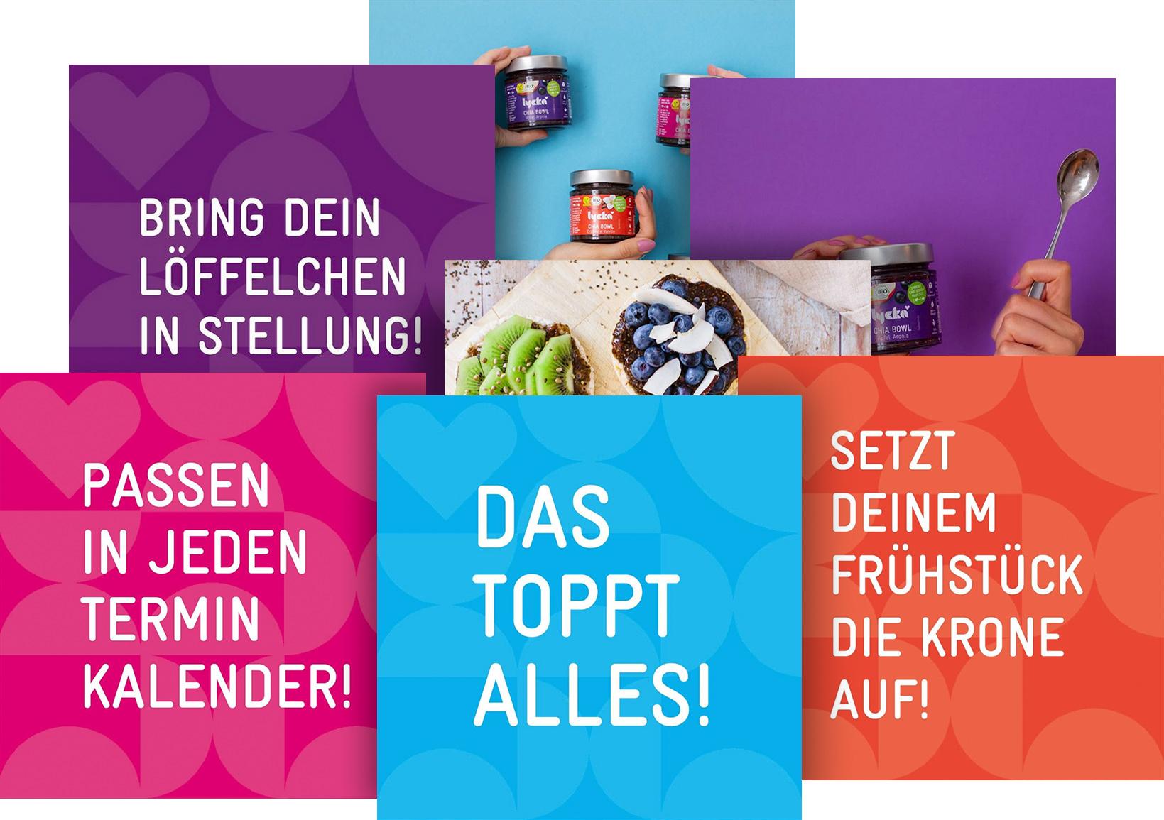 Lycka Chia Bowl Headlines Kampagne Vegan Bio Hamburg