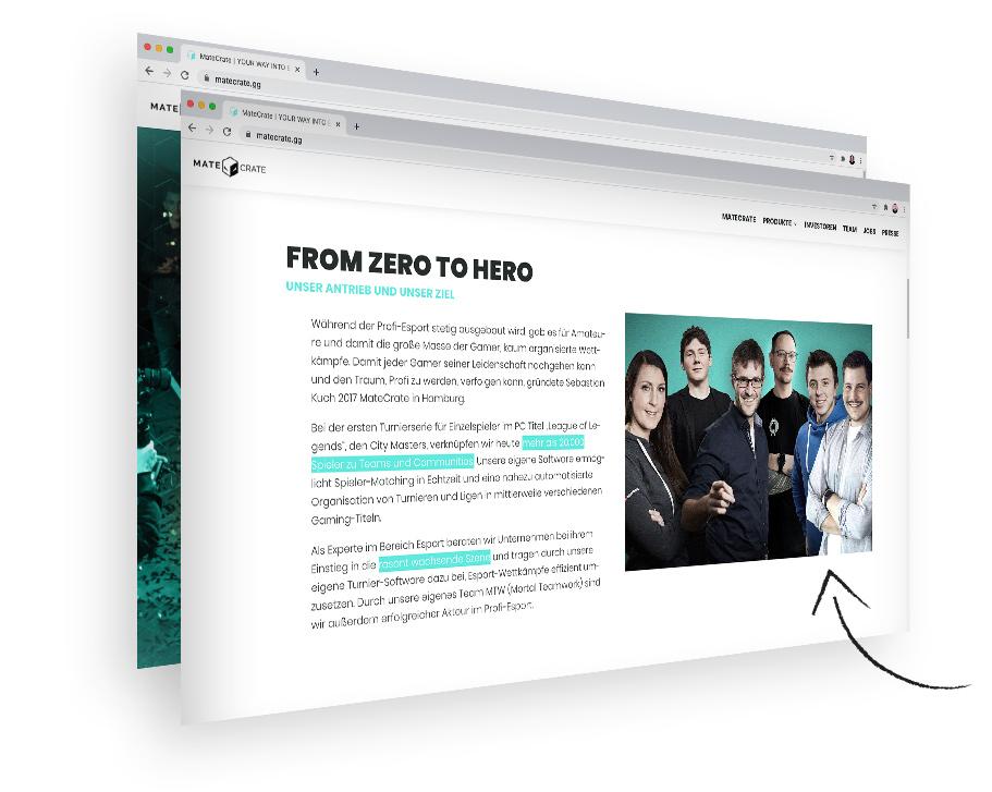 MateCrate Esport Start-up Design Webdesign Hamburg Grafikdesign
